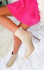 Jemma Glitter Block Heel Ankle Boots Thumbnail