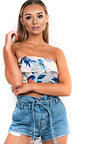 Jen Bandeau Tropical Crop Top Thumbnail