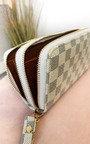 Jen Check Double Style Zip Purse Thumbnail