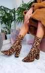 Jen Stretch Block Heeled Ankle Boots Thumbnail