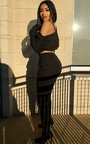 Jenner Off Shoulder Crop Lounge Set Thumbnail