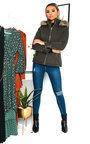 Jenni Padded Faux Fur Hood Jacket Thumbnail