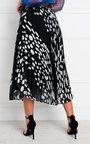 Jenni Pleated Polka Dot Midi Skirt Thumbnail