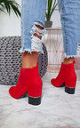 Jerri Faux Suede Heeled Ankle Boots Thumbnail