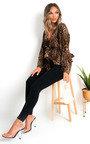 Jerri Mesh Kimono Peplum Top Thumbnail