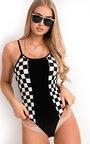 Jess Checked Print Bodysuit  Thumbnail
