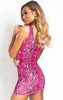Jess Snake Print Mini Dress Thumbnail