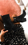 Jessi Cowboy Block Heel Ankle Boots Thumbnail