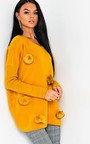 Jessie Faux Fur Pom Pom Knitted Jumper Thumbnail