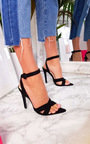 Jill Faux Suede Crossover Heels   Thumbnail