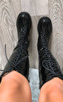 Jilly Lace Up Knee High Boots  Thumbnail