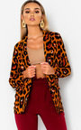 Jilly Leopard Long-Lined Blazer Jacket Thumbnail