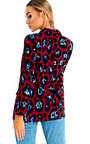 Jilly Leopard Long-Lined Blazer Jacket Thumbnail