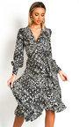 Joanna Wrap Midi Dress Thumbnail