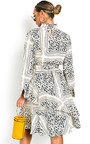 Joanne Animal Print Frill Midi Dress Thumbnail