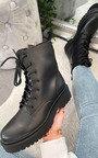 Jolene Lace Up Biker Boots Thumbnail