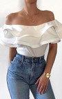 Joli Frill Bardot Bodysuit Thumbnail