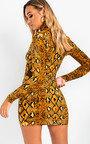 Jolli Long-Sleeve Snake Print Boydcon Dress Thumbnail
