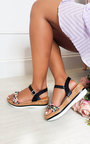 Jorgie Ribbon Strap Sandals Thumbnail
