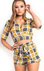 Jose Checked Mini Shorts Co-ord Thumbnail