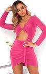 Josephine Slinky Bodycon Cut Out Tie Dress Thumbnail