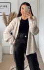 Josie Knitted Balloon Sleeve Cardigan Thumbnail