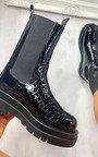 Joslin Croc Print Long Boots Thumbnail