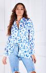 Joslin Oversized Button Up Printed Shirt Thumbnail