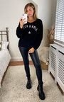 Joss Rock and Roll Knitted V Neck Jumper Thumbnail
