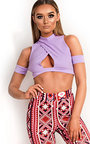 Juju Cut Out Halter Neck Crop Top Thumbnail