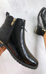 Jules Faux Leather Patent Ankle Boots Thumbnail