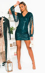 Julie Sequin Embellished Mini Dress Thumbnail