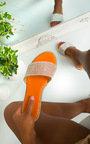 Kai Diamante Embellished Slip On Sandals Thumbnail