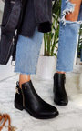 Kali Buckle Faux Suede Ankle Boots Thumbnail