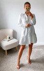 Karina Peplum Hem Mini Shirt Dress Thumbnail