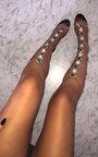 Karla Embellished Perspex Gladiator Heels Thumbnail