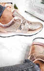 Karlie Metallic Sequin Trainers Thumbnail