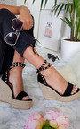 Karlie Studded Embellished Wedged Heels Thumbnail