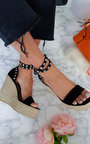 Karlie Studded Embellished Wedged Heels Thumbnail