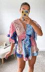 Karolina Printed Ruffle Playsuit Thumbnail