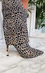 Karrie Fold Over Leopard Print Boots Thumbnail