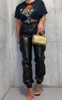 Kasey Faux Leather Jogger Trousers Thumbnail