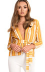 Kassidy Striped Belted Tie Blazer  Thumbnail