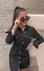 Kassie Cord Tie Waist Shirt Dress Thumbnail