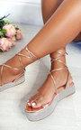 Katie Diamante Strappy Flatform Sandals Thumbnail