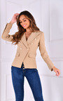 Katie Gold Button Detail Fitted Blazer Thumbnail