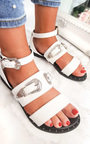 Katja Double Buckle Strapped Sandals  Thumbnail