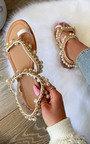 Katya Pearl Strap Sandals Thumbnail