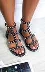 Kay Ankle Strap Studded Sandals Thumbnail