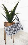 Kay Snake Print Shoulder Handbag Thumbnail